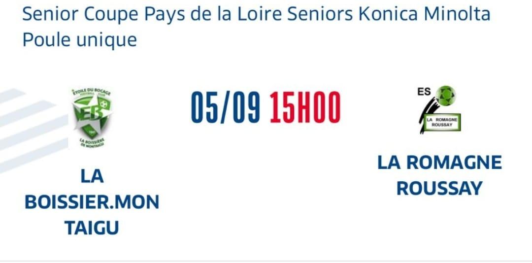 1er tour de la Coupe des Pays de la Loire pour les verts !!